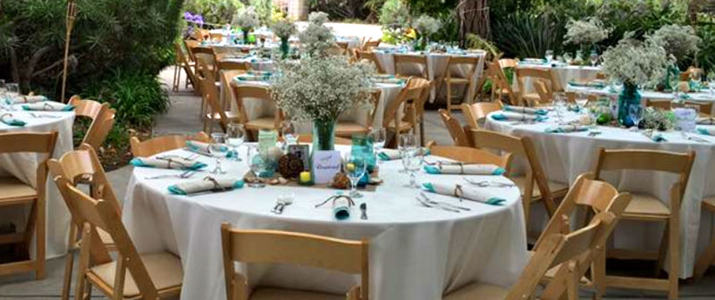 table setting at outdoor venue
